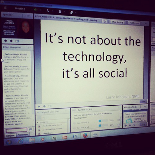 Let's get social #edusocmedia ....its not the tech #edu13