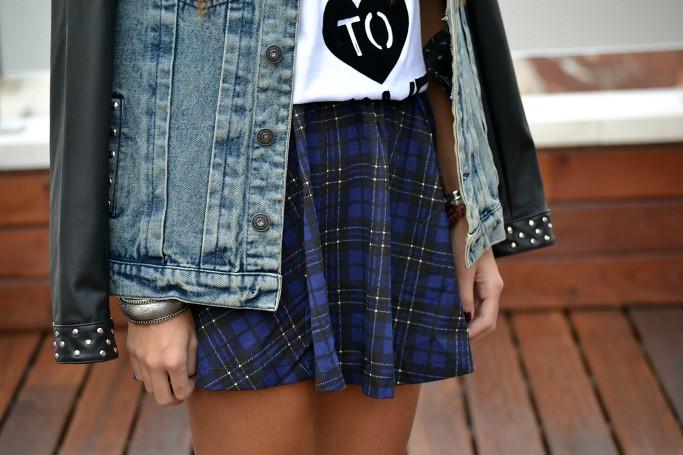 falda de cuadros azul  zara  3