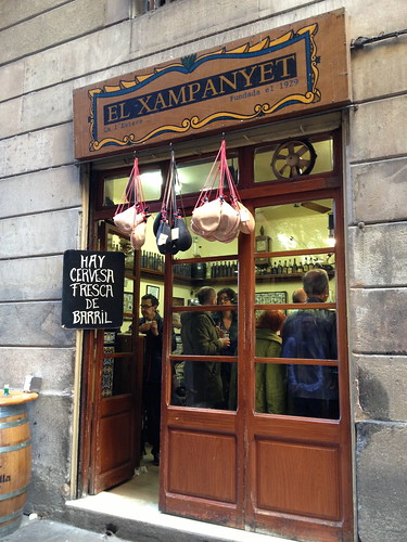El Xampanet cava bar. From Foodie Finds: Exploring Barcelona, One Bite at a Time
