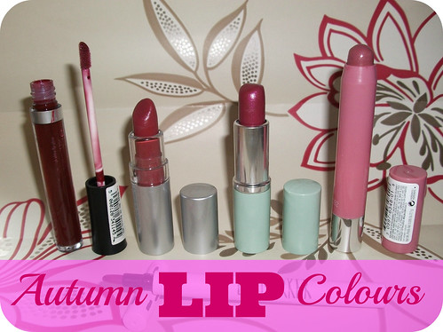 Top Five Autumn Lip Colours