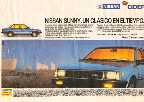 Nissan Sunny - Aviso Chile (ca. 1989)
