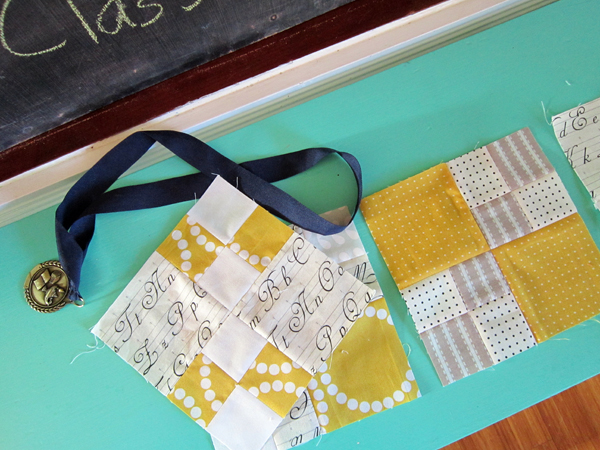 sewing 4-Penny Patch blocks
