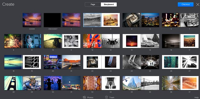 The Layout Tool For Flickr's New Book Service Was Super Easy to Use