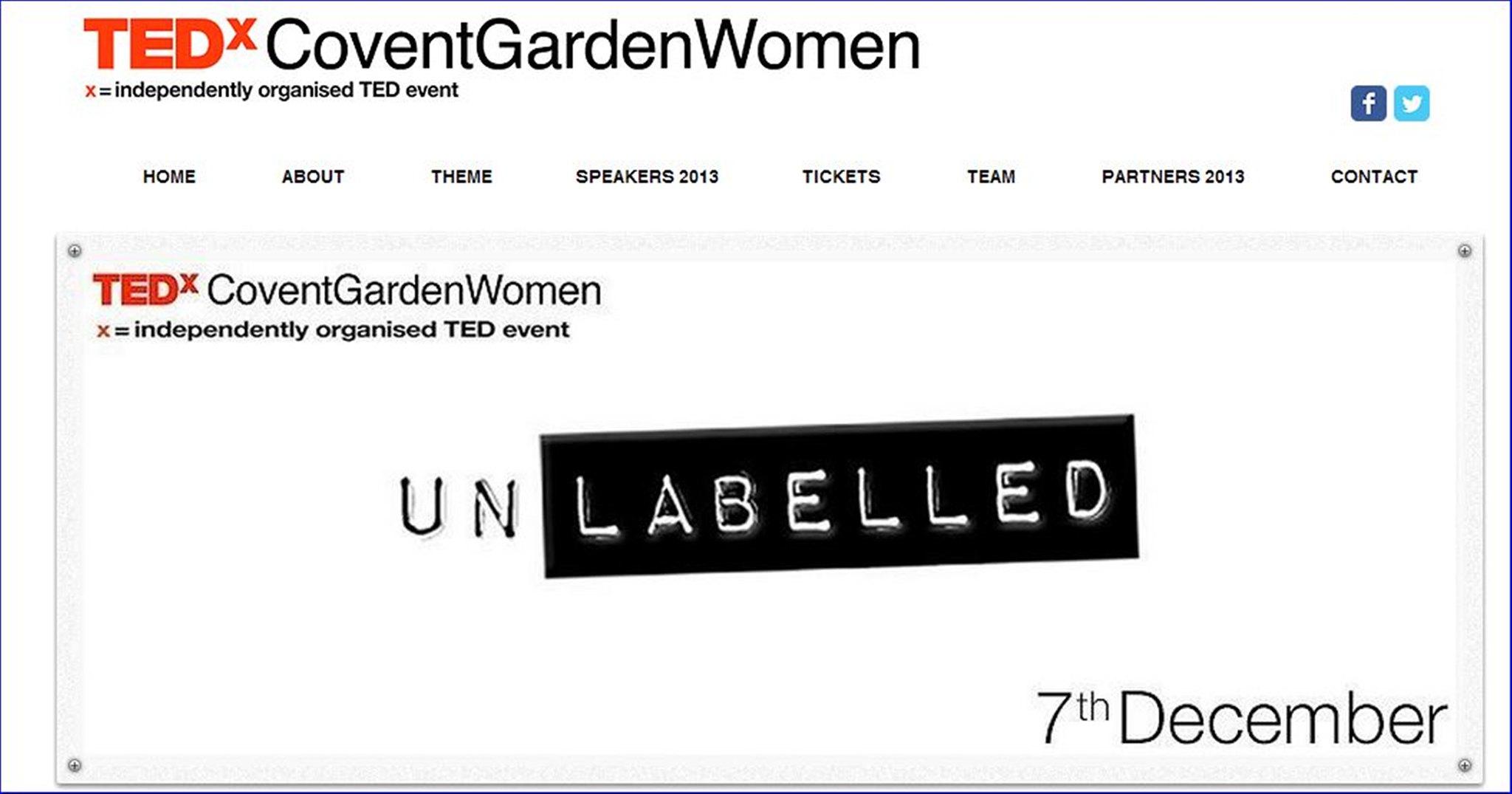 TEDx Covent Garden Women - UnLabelled