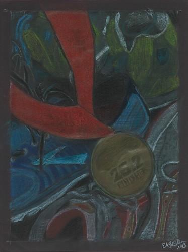 marathon medal still life