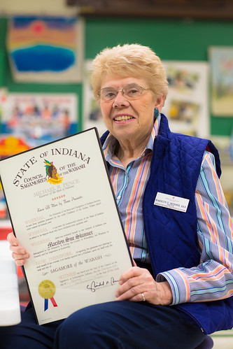 Marilyn Skinner receives the Sagamore of the Wabash