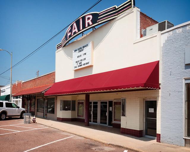 Fair Theatre (1935), view 02, 112 E. Market St, Somerville, TN (1854, pop. 3,094), USA