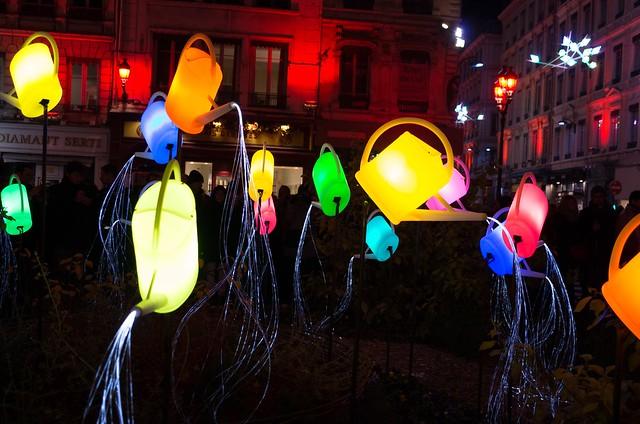 Anges gardiens à la fête des lumières (devant St Nizier)