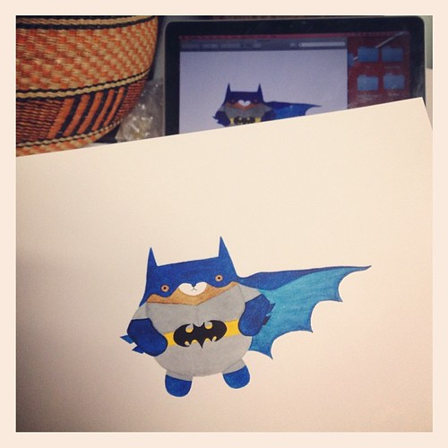 Also happening today: pudgy bat bear prints! #wip #migrationgoods