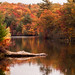 Peak fall color on Birch pond, credit: Jeff Folger by Massachusetts Office of Travel & Tourism