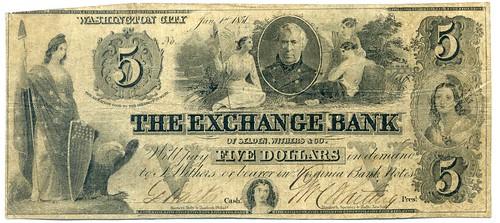 Washington City Exchange Bank note