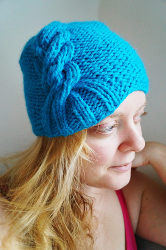 Alessa hat test knit