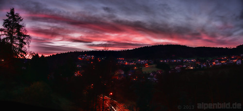 city morning panorama cloud tree clouds sunrise deutschland twilight nikon pano wolke wolken stadt dämmerung sonnenaufgang morgen baum topaz morgens d800 odenwald badenwürttemberg ptgui 德国 daemmerung wilhelmsfeld purplehour d800e nikond800e alpenbildde