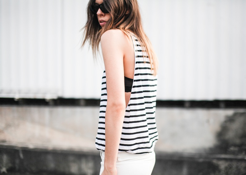 modern legacy fashion style blogger australia Bassike stripe lo slung jeans white mesh bra summer street style tall (8 of 11)