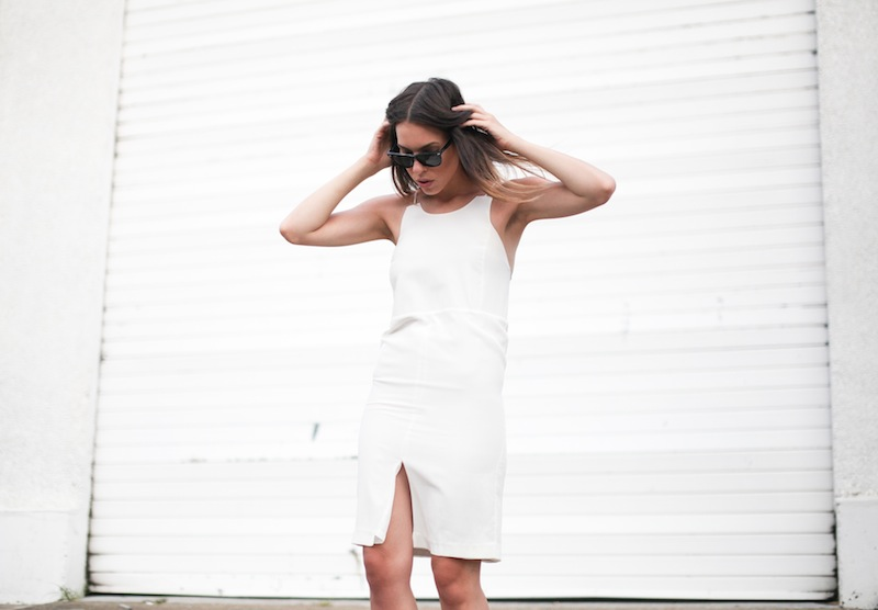modern legacy fashion style blogger australia street style tall summer LIUK ivory white cami split slip midi dress  (1 of 1)
