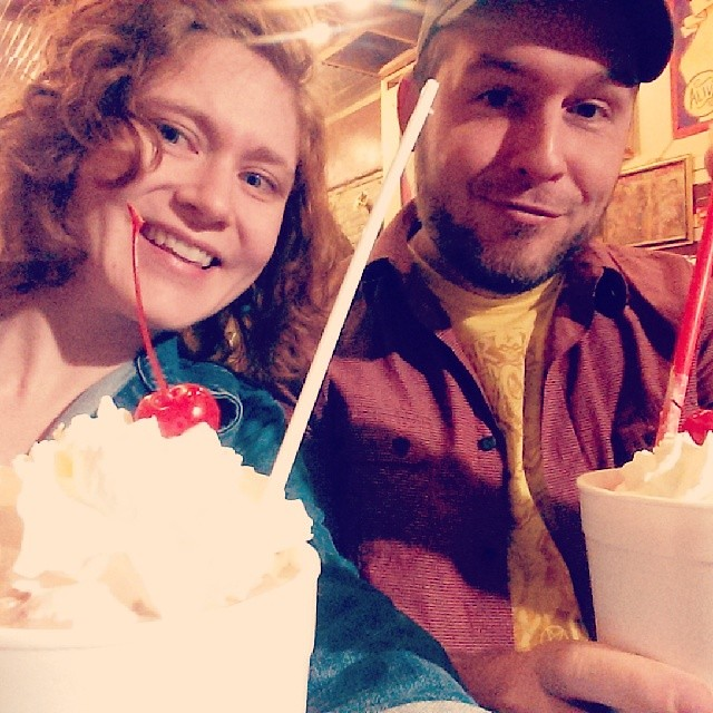 Awesome noms in Austin w/ @_Quincy_. #Texas #roadtrip #milkshake