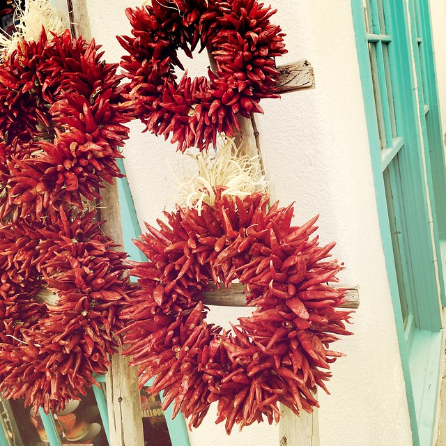 Ristras Red Chiles Wreaths Old Town Albuquerque New Mexico IMG_2760
