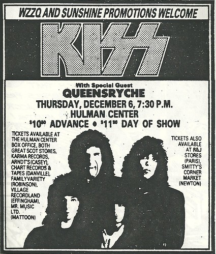 12/06/84 Kiss/ Queensryche @ Terre Haute, IN0001