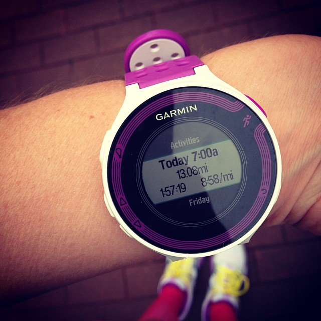 My Garmin came up a little short. It definitely felt like 13.1. And that's a PR. Yeaaaah bitch.