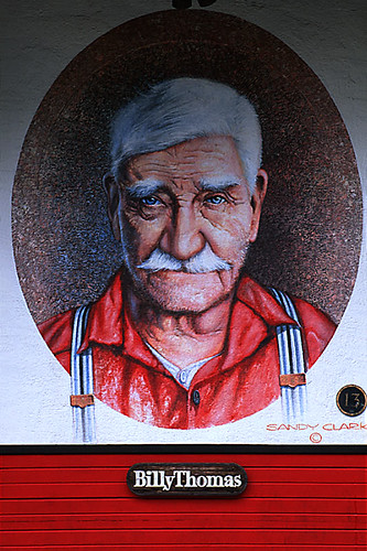 Billy Thomas Mural, Chemainus, Cowichan Valley, Vancouver Island, British Columbia, Canada
