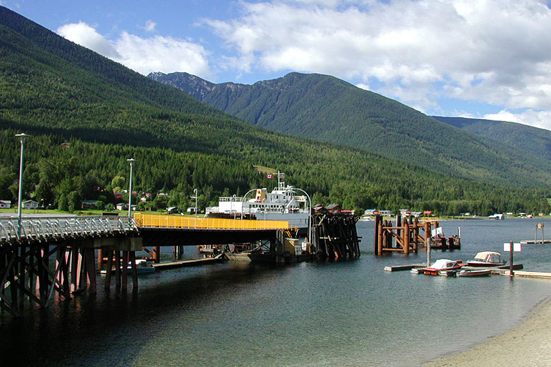 Balfour Ferry Terminal,  Balfour, Kootenay Rockies, British Columbia, Canada
