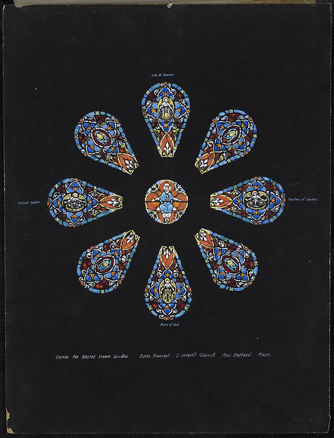 Design for rose window west over entrance design for for Rose window design