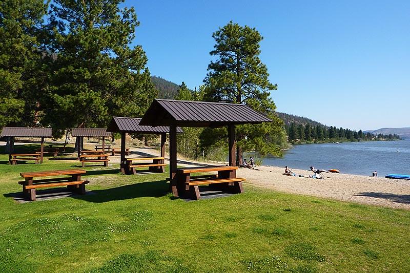 Day-use Picnic Site at Monck Provincial Park, Nicola Lake, Merritt, Nicola Valley, British Columbia, Canada