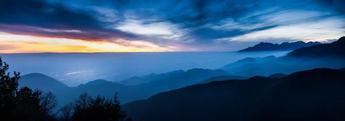 california sunset mountain forest landscape smog dusk photomerge 28 sanbernadino urbanlimit a77 sony 1650mm