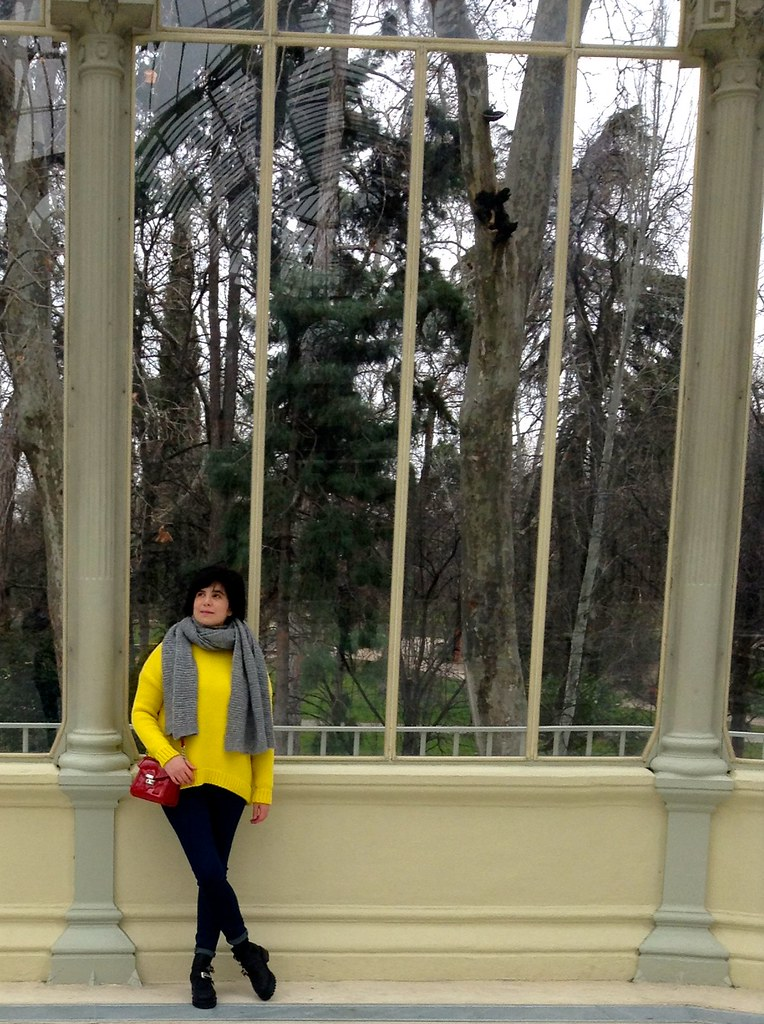 Palacio de Cristal, Parque del Retiro, Madrid, España - Outfit of the Day - OOTD
