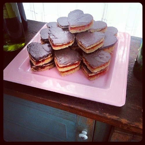 Sorghum flour & sorghum syrup dark chocolate cookies sandwiches. Recipe and reaction on tomorrows blog by The Cookie Man