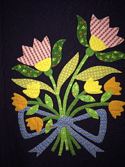 In Remembrance~Block Four Detail~ Quilt by Nancy Rink
