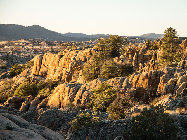 view of Prescott from Willow Lake
