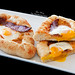 Acharuli Khachapuri with duck bacon