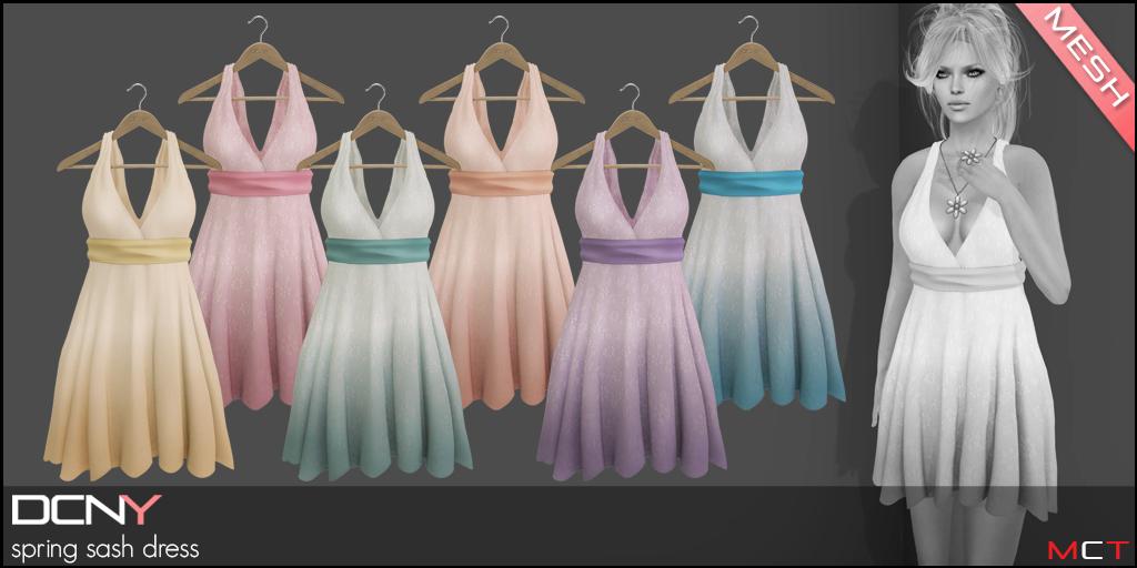 DCNY Spring Sash Dress