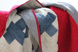 A quilt finish: Denim Plus Linen
