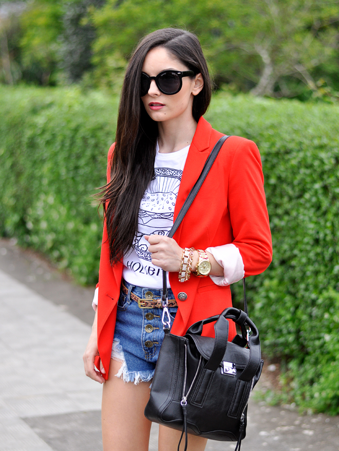 Red Zara Blazer_03