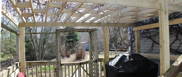 Pergola Day 5 - Done! - Pano