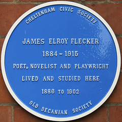 Photo of James Elroy Flecker blue plaque