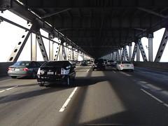 On the western span San Francisco - Oakland Bay Bridge,