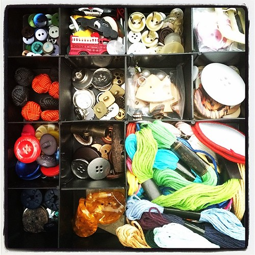Closeup of my #button box