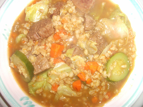 Homemade Beef and Barley Soup with Vegetables