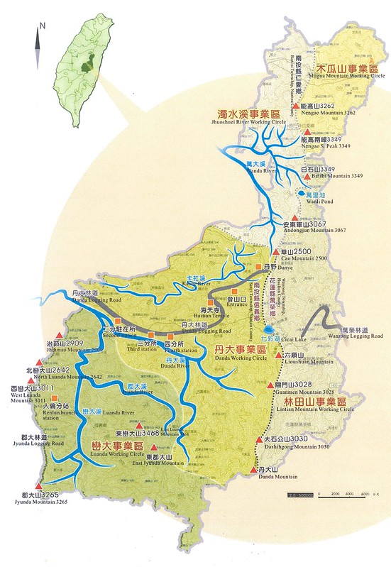 丹大野生動物範圍圖。(圖片來源:南投林管處)