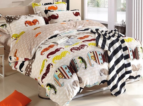 New-Arrival-Coral-Fleece-Fashionable-Beard-Pattern-4-Piece-Bedding-Sets-Duvet-Cover-Sets-10783149