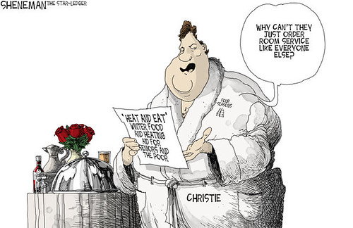 Drew Sheneman cartoon. Chris Christie 2/15/15