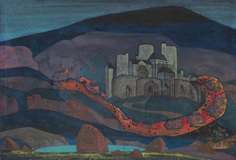 Nicholas Roerich - The Doomed City, 1914