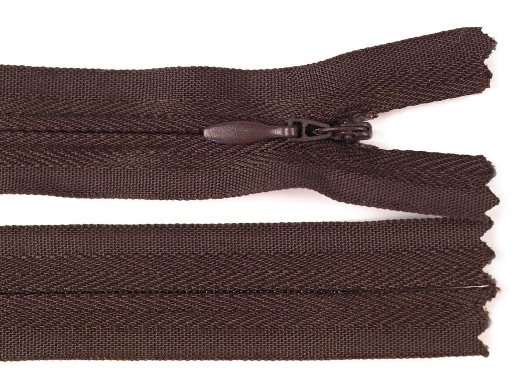 Reißverschluss 30cm, Dunkelbraun