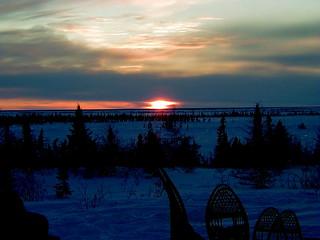Sunset near Churchill