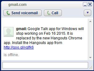 Google Talk app for Windows will stop working on Feb 16 20