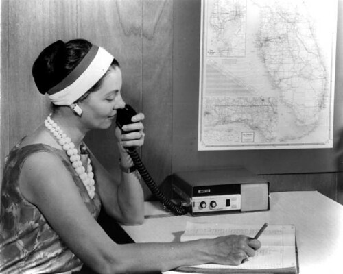 Woman on a two way radio - Miami