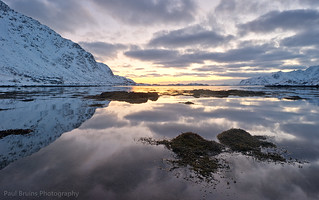 Lofoten Sunset Reflections
